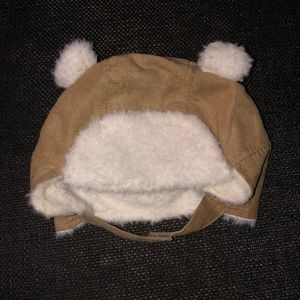 Old Navy Faux-Suede Sherpa-Trim Baby Hat Beanie